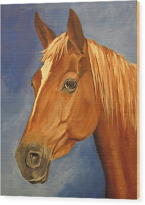Wood Print featuring the painting Victor by Carol Hart