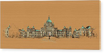 Victoria Art 005 Wood Print by Catf