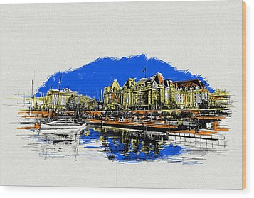 Victoria Art 011 Wood Print by Catf