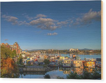 Victoria Bc Fisherman's Wharf Wood Print by JPLDesigns