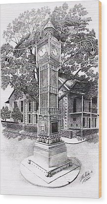 Victoria Clock Tower Wood Print by Jimmy McAlister