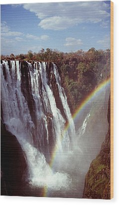 Victoria Falls Rainbow Wood Print by Stefan Carpenter