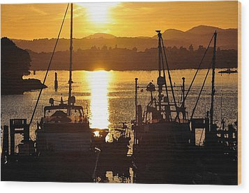 Wood Print featuring the digital art Victoria Harbor Sunset 2 by Kirt Tisdale