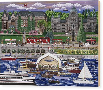 Wood Print featuring the painting Victoria  by Jennifer Lake