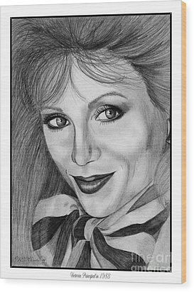 Victoria Principal In 1983 Wood Print by J McCombie
