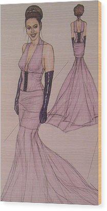 Victoria Renee's Fashions Wood Print by Vicki  Jones