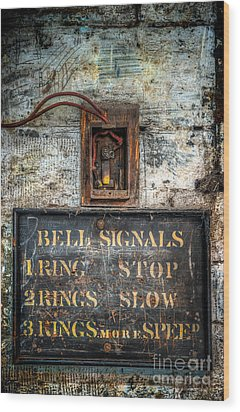 Victorian Bell Sign Wood Print by Adrian Evans