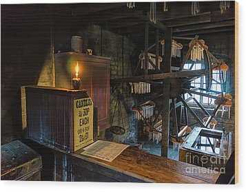 Victorian Candle Factory Wood Print by Adrian Evans