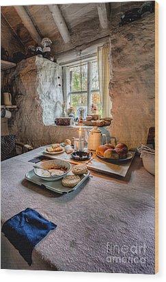 Victorian Cottage Breakfast Wood Print by Adrian Evans