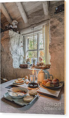 Victorian Cottage Breakfast V.2 Wood Print by Adrian Evans