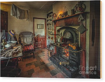 Victorian Fire Place Wood Print by Adrian Evans