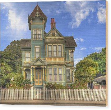 Victorian House Wood Print