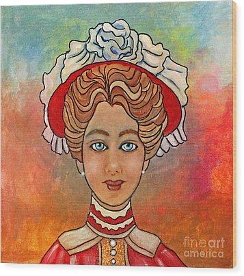 Victorian Lady-a Wood Print by Lamarr Kramer