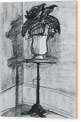 Victorian Plant Stand Wood Print by Anita Dale Livaditis