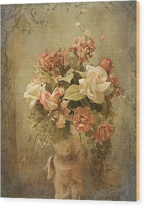 Victorian Rose Floral Wood Print by TnBackroadsPhotos