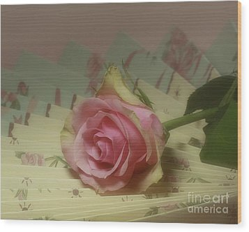 Victorian Rose Wood Print by Inspired Nature Photography Fine Art Photography