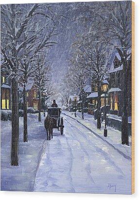 Victorian Snow Wood Print