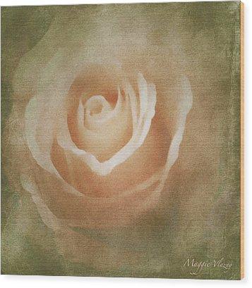 Victorian Vintage Pink Rose Wood Print