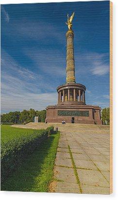 Victory Column Wood Print
