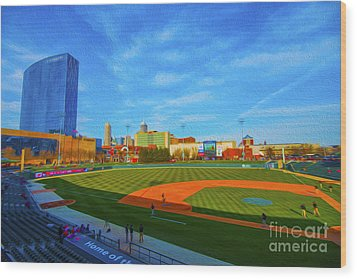 Victory Field 1 Wood Print by David Haskett