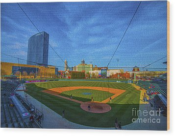 Victory Field Home Plate Wood Print by David Haskett