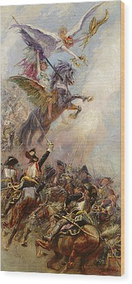 Victory Wood Print by Jean-Baptiste Edouard Detaille