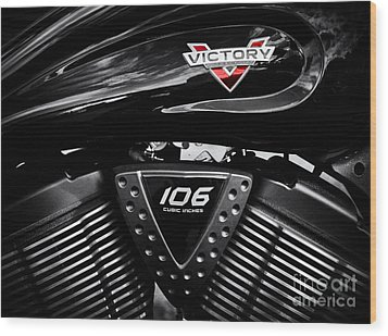 Victory Monochrome Wood Print by Tim Gainey