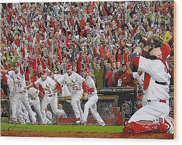 Victory - St Louis Cardinals Win The World Series Title - Friday Oct 28th 2011 Wood Print