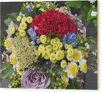 Wood Print featuring the photograph Vienna Bouquet by Kay Gilley