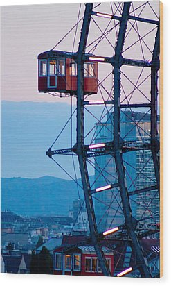 Vienna Ferris Wheel Wood Print by Viacheslav Savitskiy
