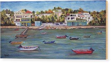 Vieques Wood Print by Gloria E Barreto-Rodriguez