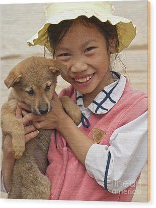 Vietnamese Girl 02 Wood Print