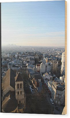 View From Basilica Of The Sacred Heart Of Paris - Sacre Coeur - Paris France - 011320 Wood Print by DC Photographer