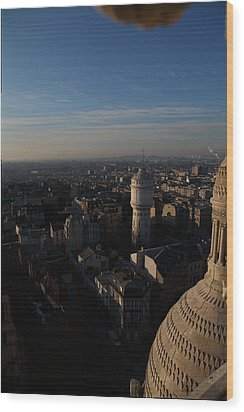 View From Basilica Of The Sacred Heart Of Paris - Sacre Coeur - Paris France - 011321 Wood Print by DC Photographer