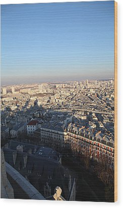 View From Basilica Of The Sacred Heart Of Paris - Sacre Coeur - Paris France - 011326 Wood Print by DC Photographer