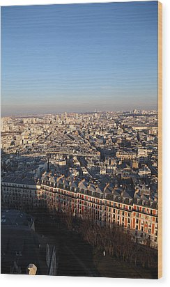 View From Basilica Of The Sacred Heart Of Paris - Sacre Coeur - Paris France - 011328 Wood Print by DC Photographer