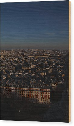 View From Basilica Of The Sacred Heart Of Paris - Sacre Coeur - Paris France - 011329 Wood Print by DC Photographer