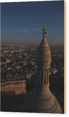 View From Basilica Of The Sacred Heart Of Paris - Sacre Coeur - Paris France - 011331 Wood Print by DC Photographer