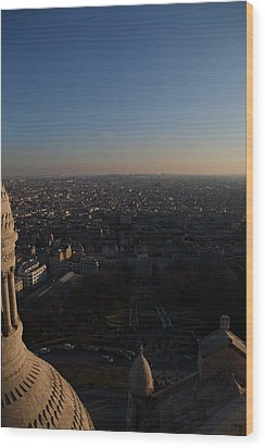 View From Basilica Of The Sacred Heart Of Paris - Sacre Coeur - Paris France - 011335 Wood Print by DC Photographer