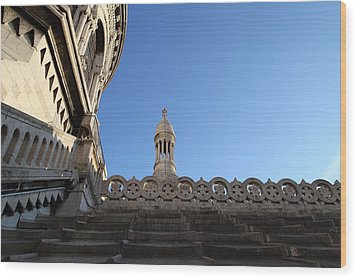 View From Basilica Of The Sacred Heart Of Paris - Sacre Coeur - Paris France - 01134 Wood Print by DC Photographer