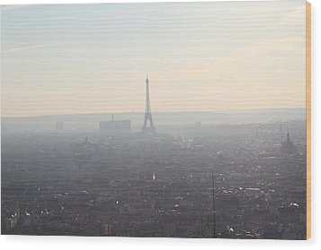 View From Basilica Of The Sacred Heart Of Paris - Sacre Coeur - Paris France - 01137 Wood Print by DC Photographer