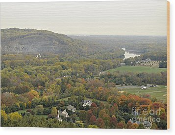 View From Bowman's Tower South Wood Print by Addie Hocynec