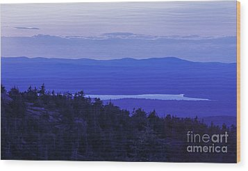 View From Cadillac Mountain Wood Print by Diane Diederich