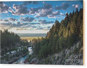 View From Cascade Dam Of The North Fork Of The Payette River Wood Print by Robert Bales