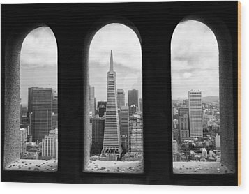 View From Coit Tower Wood Print
