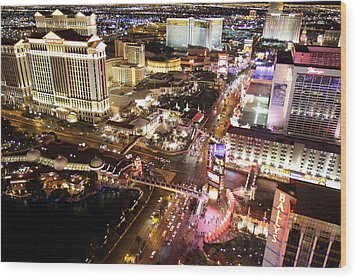 View From Eiffel Tower In Las Vegas - 01131 Wood Print by DC Photographer