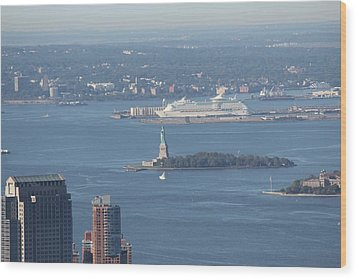 View From Empire State Building Wood Print by David Grant