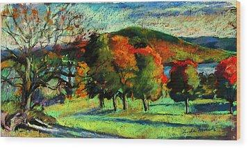 View From Kripalu Towards Lake Mahkeenac Wood Print