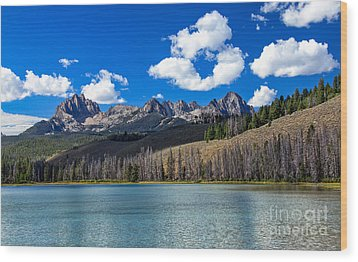 View From Little Redfish Lake Wood Print by Robert Bales