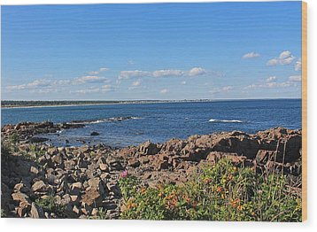 View From Marginal Way Ogunquit Maine 3 Wood Print